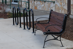 Site Amenities: Tables, Benches, Bike Racks, and Litter Receptacles