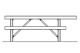 Table Model 75-113 ADA plan view