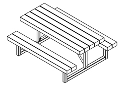 Table Model 75-113 plan view
