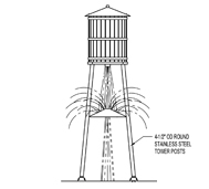 Water Tower Model 1800-122 plan view