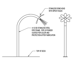 Daisy Spray Pole Model 1800-30 plan view