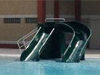 Double Flume Pool Slide Model 1800-81
