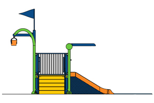 Water Play Structure Model 2701-101 plan view