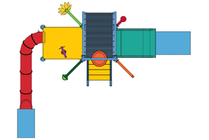 Water Play Structure Model 2702-107 plan view