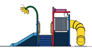 Water Play Structure Model 2702-108 plan view