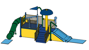 Water Play Structure Model 2702-109 plan view