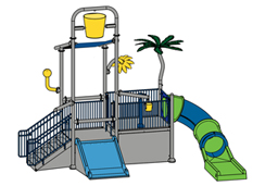 Water Play Structure Model 2702-110 plan view