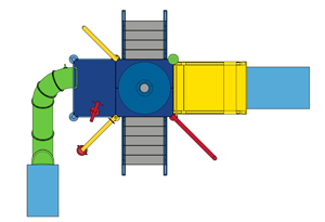 Water Play Structure Model 2702-113 plan view