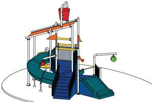 Water Play Structure Model 2704-103 plan view