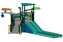 Water Play Structure Model 2706-103 plan view
