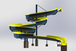 Fiberglass Hillside Slide Model: Tyler Hill 3D view