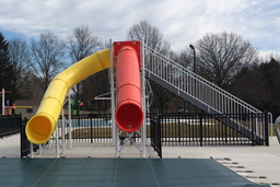 Double Flume Drop Slide Pool Slide Model 5022