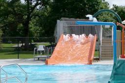 pen Flume Fiberglass Pool Slide Model 2100