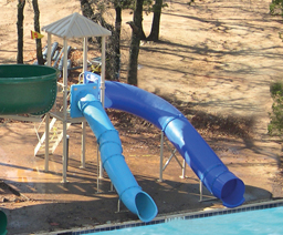 Double Flume Pool Slide Model 0085