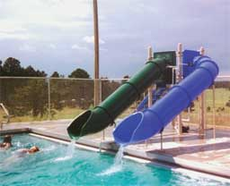 Double Flume Pool Slide Model 0083