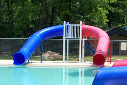 Double Flume Pool Slide Model 9006