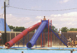 Double Flume Pool Slide Model 9012