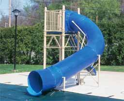 Single Flume Pool Slide Model 9108