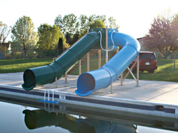 Double Flume Pool Slide Model 9113