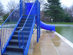 Single Flume Pool Slide Model 9206