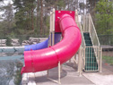 Double Flume Pool Slide Model 9305 Security Gate closed