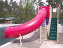 Double Flume Pool Slide Model 9305 Security Gate open