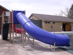 Double Flume Pool Slide Model 9305
