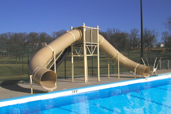 Double Flume Pool Slide Model 9308