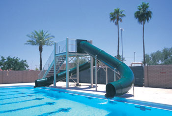 Double Flume Pool Slide Model 9409