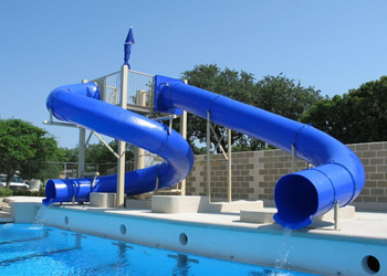 Double Polyethylene Flume Water Slide Model 9410