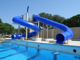 Double Flume Pool Slides