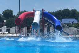 Triple Flume Drop Slide Pool Slide Model 5023