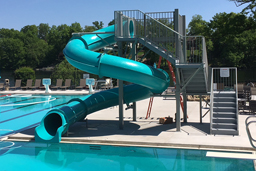 Closed Fiberglass Flume Water Slide Model 1615-32