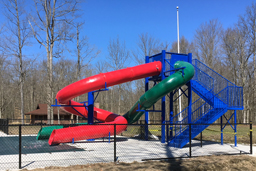 Double Polyethylene Flume Water Slide Model 1667