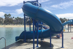 Closed Fiberglass Flume Pool Slide Model 1677-32