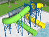 Closed Flume Fiberglass Water Slide Model 1628-32