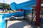 Open Fiberglass Flume Water Slide Model 1823