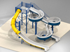Double Fiberglass Flume Water Slide Model 1906