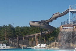 Fiberglass  Flume Water Slide Model 1936