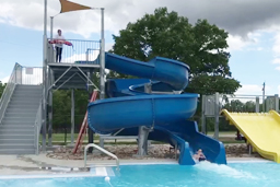 Open Fiberglass Flume Water Slide Model 3001