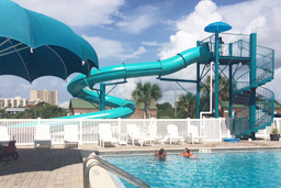 Closed Flume Fiberglass Water Slide with exit lane Model 2057
