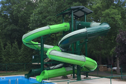 Double Closed Fiberglass Flume Water Slide Model 1649-32