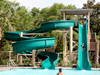 Double Fiberglass Flume Water Slide Model 1901