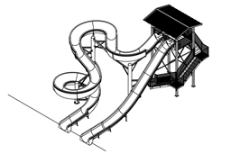 Fiberglass Water Slide Model 1901 plan view
