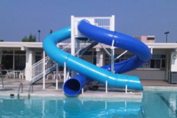 Double Polyethylene Flume Water Slide Model 1678