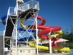 Triple Flume Water Slide Model 1644