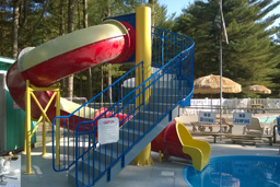 Closed Fiberglass Flume Water Slide Model 1663-32