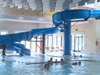Fiberglass Flume Water Slide Model 1855