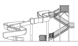 Fiberglass Water Slide Model 1855 plan view