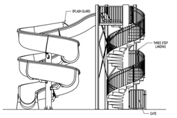 Fiberglass Water Slide Model 1919 plan view